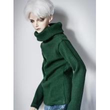 Kleidung Grün/Weißer Pullover mit StehkragenA197 für MSD/SD/70cm