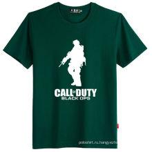 100% хлопок Custom Design поощрения шелковый печати Основные футболка
