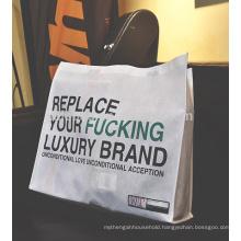 custom silkscreen print non woven shopping tote bags