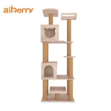 Groothandel Luxe Cat House Tree Climbing Tower