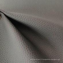 Tissu en cuir souple Tissu en cuir PVC Canapé Lychee