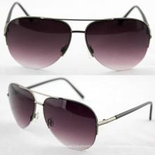 Качественный дизайнер металлических модных поляризованных солнцезащитных очков для мужчин (14191)