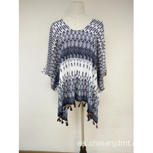 Ladies Printing Navy Wrap
