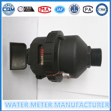 Medidor de fluxo de água Volumetric preto Materail do nylon