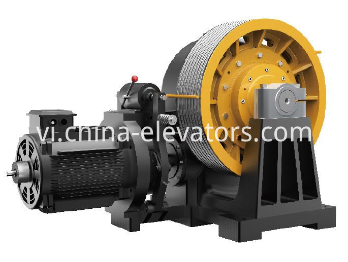 goods elevator geared machine