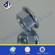 Tuerca de brida hexagonal con zinc azul 8