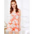 Mignon Floral Imprimer Spaghetti Strap Pyjamas de Pyjamas d'été Fabrication de Mode En Gros Femmes Vêtements (TA0002P)