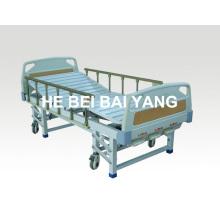 (A-43) Подвижная трехфункциональная ручная больничная койка с головкой из ABS-кровати