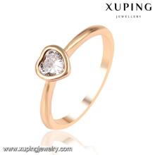 13953 Xuping simple diseño elegante oro plateado anillos de dedo de la boda