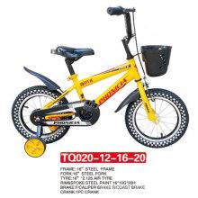 Cuatro tamaños de bicicleta para niños