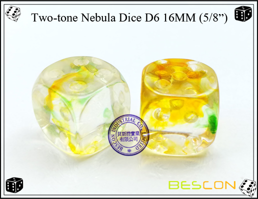 Two-tone Nebula Dice D6 16MM-3