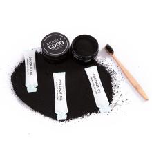 Briquetas de coco activadas en polvo de carbón para blanquear los dientes