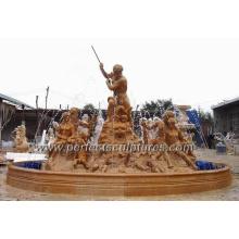 Stein Wasserbrunnen mit Garten Marmor Statue (SY-F295)