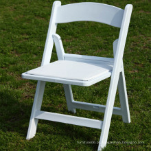 Atacado Branco Acolchoado Resina Dobrável Cadeira