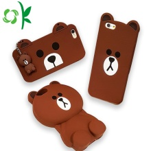 Beruang Coklat Desain 3D Silicone Cell Phone Case