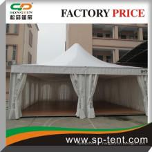 Carré en aluminium pvc double tente de mariage 8mx8m tente de pagode extérieure