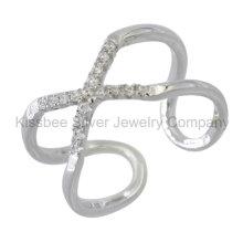 925 Bijoux en argent sterling Bague Finger CZ (KR3092)