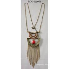 Retro Necklace with Metal Tassel