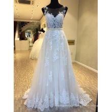 A Line Lace Evening Bridal Gown Wedding Dress
