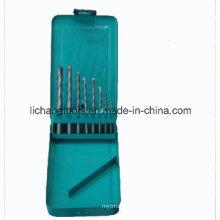 8PCS Masonry Drill Bit Set with Blue Aluminum Box