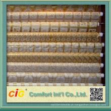 PVC branco e pano de mesa de ouro Made in China