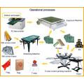 Manual 6 color screen printing machine