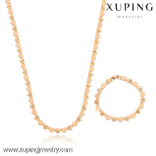 63213-Xuping Necklace & Bracelet Lovely Heart Shape String Jewelry Set For Wedding