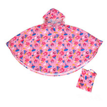 Vary Cute pvc kids rain poncho for rain