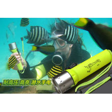online shop scuba diving torch Underwater LED diving led torch 18650 Torch Lamp Light