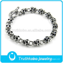 TKB-JB0099 Best-selling punk silver skull chain 316L stainless steel bracelets & bangles for young people