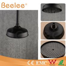 Chine Pommeau de douche de dessus de salle de bains de pluie de pluie d'économie d'eau noire ronde ronde de 8 pouces