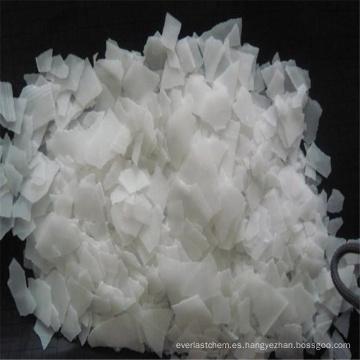 Copos de soda cáustica translúcida blanca en bolsa de 25kg para detergente sintético