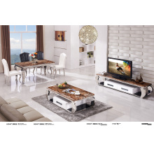Top Marble and Fashion Stainless Steel Coffee Table