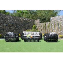 Diseño de gama alta todo el tiempo Rattan sofá PE para muebles de jardín al aire libre