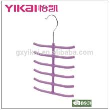 2015top sale rubber lacquer ABS tie clothes hanger