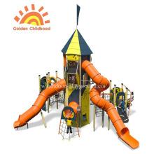 Terrain de jeu de glissière de tube de tour d'activité de HPL pour des enfants