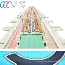 Máquina de bordar plana computadorizada de alta velocidade de linha dupla