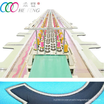 Double row high speed computerized flat embroidery machine