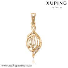 32771-Xuping falso colgante de cristal de mujer moderno