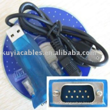 USB 2.0 to 9 Pin Serial RS 232 RS232 Adapter Converter