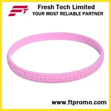 Bracelete de moda do silicone feito sob encomenda com logotipo