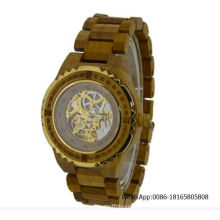 Skeleton Watch Automatic Wooden Watch Luxury Wooden Watch Factory Wholealse Watches
