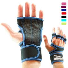 Neue benutzerdefinierte hochwertige Leder Handgelenkstütze Kampf Fitness Crossfit Handschuhe