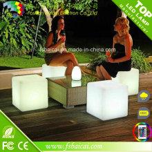 Cadeira de plástico LED Cube