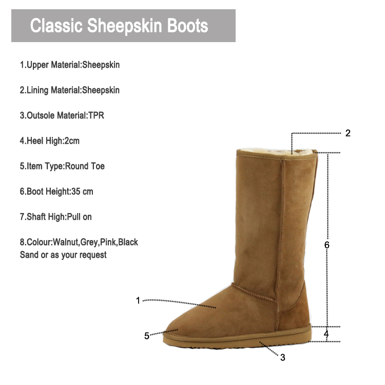 Waterproof sheepskin winter boots