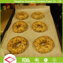 Papel de horno revestido de silicona de doble cara para revestimiento de bandejas para hornear