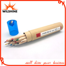 7′ Wooden Color Pencil with Transparent Sharpener Cap (MP007)
