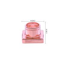 Colar de alumínio para perfume quadrado brilhante dourado para tampa