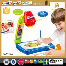 3in1 Niños educativos que pintan el proyector del juguete