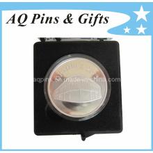 Insignias de plata esterlina con caja de plástico